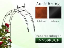 Wandrosenbogen Innsbruck Massiv Wandrosenbogen für deinen Garten, erhältlich in drei Varianten: Schwarz, Verzinkt oder Rost...