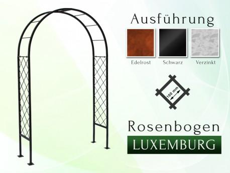Rosenbogen Luxemburg Eisen Massiv Rosenbogen für deinen Garten, erhältlich in drei Varianten: Rost, Verzinkt oder Schwarz