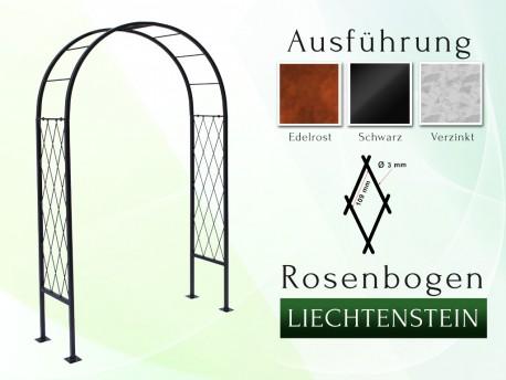 Rosenbogen Liechtenstein Eisen Massiv Rosenbogen für deinen Garten, erhältlich in drei Varianten: Rost, Verzinkt oder Schwarz