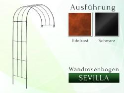 Wandrosenbogen Sevilla Massiv Wandrosenbogen für deinen Garten, erhältlich in drei Varianten: Schwarz, Verzinkt oder Rost. ...