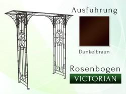 Rosenbogen Victorian Eisen Massiv Rosenbogen für deinen Garten, erhältlich in drei Varianten: Rost, Verzinkt oder Schwarz