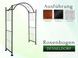 Rosenbogen Düsseldorf Eisen Massiv Rosenbogen für deinen Garten, erhältlich in drei Varianten: Rost, Verzinkt oder Schwarz
