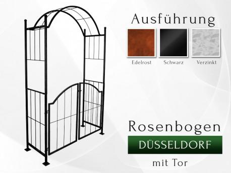 Rosenbogen Düsseldorf mit Tor Eisen Massiv Rosenbogen für deinen Garten, erhältlich in drei Varianten: Rost, Verzinkt oder ...