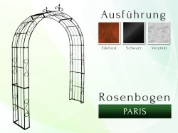Rosenbogen Paris Lilie B 2,00 m gartenbogen, rosenaule, rosenbogen eisen, rosenbogen verzinkt, rosenbogen schwarz, rosenbog...