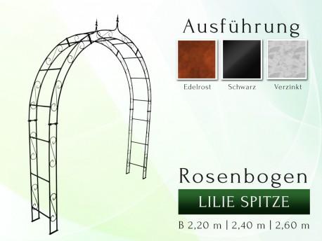 Rosenbogen HOLLAND mit Lilie-Spitze 2,40 m gartenbogen, rosenaule, rosenbogen eisen, rosenbogen verzinkt, rosenbogen schwarz...