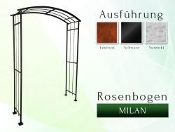 Rosenbogen Pergola Metallrosenbogen Gartenbogen Rosensäulen Milan B 1,20 - 1,60 m