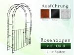 Rosenbogen mit Tor II Pergola Metallrosenbogen Gartenbogen Rosensäule Breite 1,20 m Tor höhe 1,40 m Rund