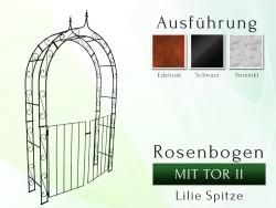Rosenbogen HOLLAND Lilie Spitze mit TOR II B 1,20 m - Tor Höhe 1,10 m