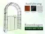 Rosenbogen Paris mit Tür B 1,40 m Rund Pergola Metallrosenbogen Gartenbogen Rosensäule