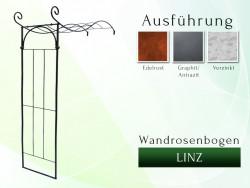 Wandrosenbogen LINZ Breite 1,40 m Pergola Metallrosenbogen Gartenbogen Rosensäule