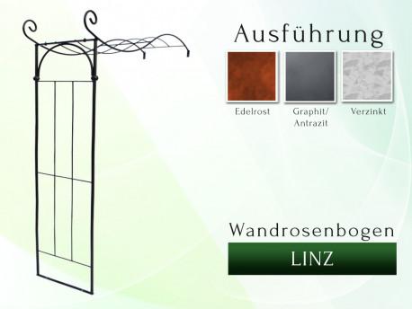 Wandrosenbogen LINZ Breite 1,60 m Massiv Wandrosenbogen für deinen Garten, erhältlich in drei Varianten: Schwarz, Verzinkt ...