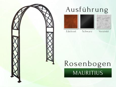 Rosenbogen Mauritius B 1,40 m Eisen Massiv Rosenbogen für deinen Garten, erhältlich in drei Varianten: Rost, Verzinkt oder...