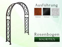 Rosenbogen Mauritius B 1,60 m Eisen Massiv Rosenbogen für deinen Garten, erhältlich in drei Varianten: Rost, Verzinkt oder...