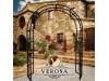 Rosenbogen VERONA B 1,80 Eisen Massiv Rosenbogen für deinen Garten, erhältlich in drei Varianten: Rost, Verzinkt oder Schwarz