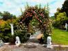 Rosenbogen HOLLAND mit Lilie-Spitze 2,40 m Eisen Massiv Rosenbogen für deinen Garten, erhältlich in drei Varianten: Rost, V...