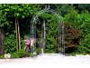 Rosenbogen HOLLAND mit Lilie-Spitze 2,00 m Eisen Massiv Rosenbogen für deinen Garten, erhältlich in drei Varianten: Rost, V...
