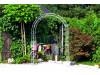 Rosenbogen HOLLAND Rund 1,60 m Eisen Massiv Rosenbogen für deinen Garten, erhältlich in drei Varianten: Rost, Verzinkt oder...