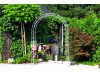 Rosenbogen HOLLAND Rund 1,80 m Eisen Massiv Rosenbogen für deinen Garten, erhältlich in drei Varianten: Rost, Verzinkt oder...