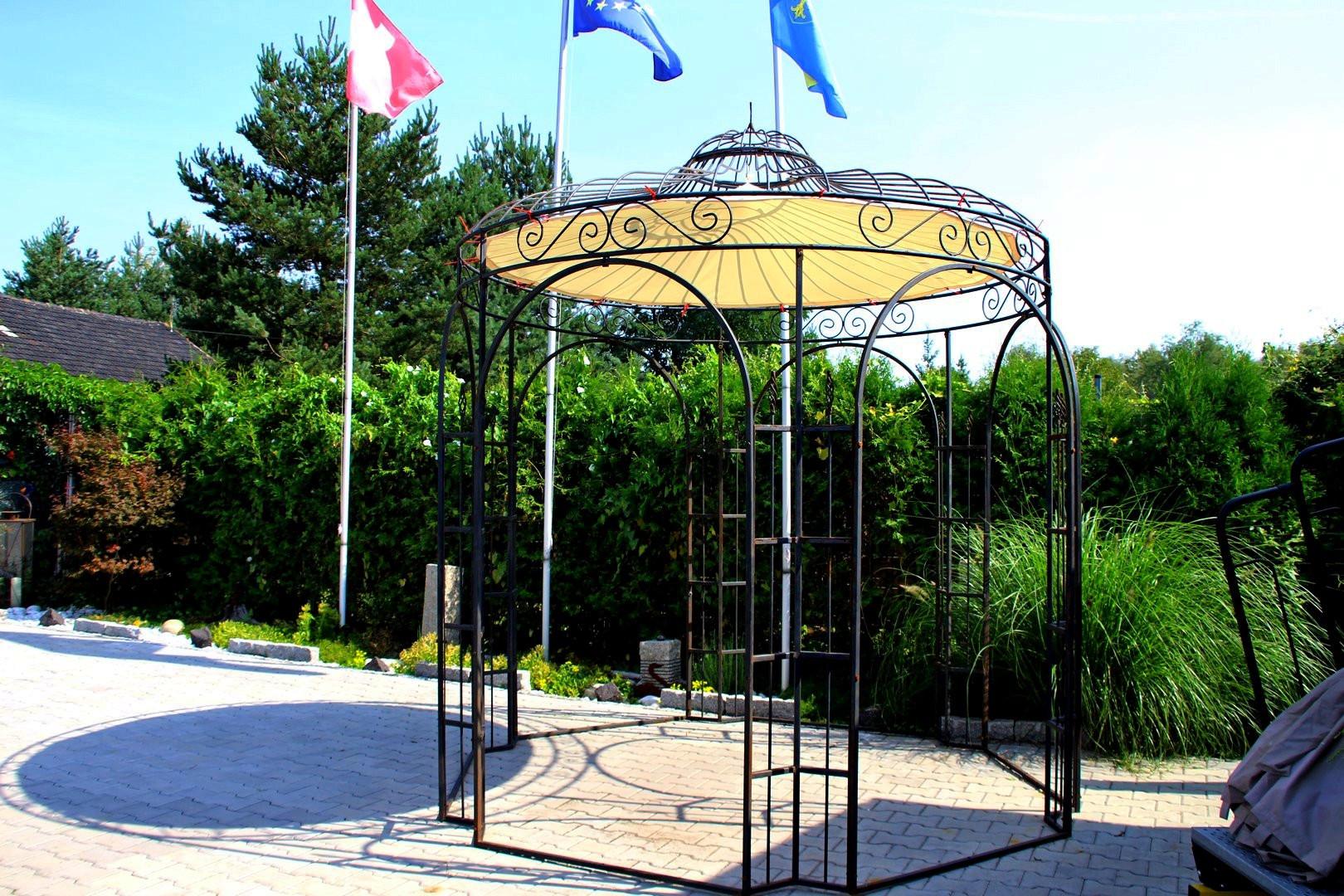 Pavillon Metall Rund Gartenlaube BRÜSSEL Ausgefallen ...
