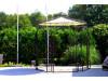 Pavillon Metall Rund Gartenlaube BRÜSSEL