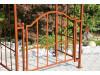 """Rosenbogen """"Classic - Garden"""" mit Tor Eisen Massiv Rosenbogen für deinen Garten, erhältlich in drei Varianten: Rost, Verzin..."""